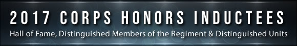 2017 Regimental Honors Inductees Banner