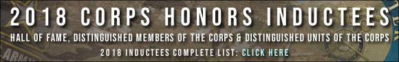 2018 Corps Inductees Banner