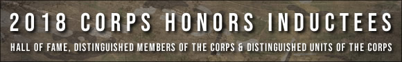 2018 Corps Honors Inductees Banner