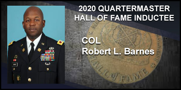 2020 Quartermaster Hall of Fame Inductee COL Robert L. Barnes