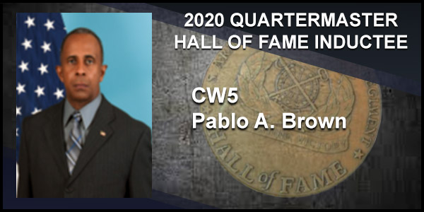 2020 Quartermaster Hall of Fame Inductee CW5 Pablo A. Brown