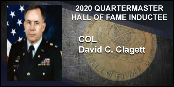 2020 Quartermaster Hall of Fame Inductee COL David C. Clagett