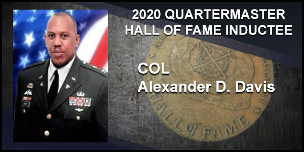2020 Quartermaster Hall of Fame Inductee COL Alexander D. Davis