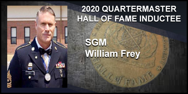 2020 Quartermaster Hall of Fame Inductee SGM William Frey