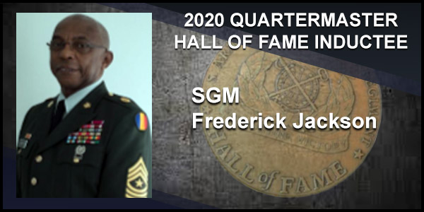 2020 Quartermaster Hall of Fame Inductee SGM Frederick Jackson