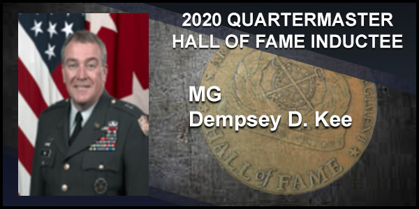 2020 Quartermaster Hall of Fame Inductee MG Dempsey D. Kee