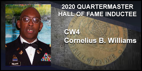2020 Quartermaster Hall of Fame Inductee CW4 Cornelius B. Williams